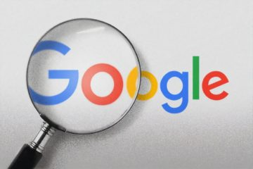 google logo under a magnifying glass for google search snippets