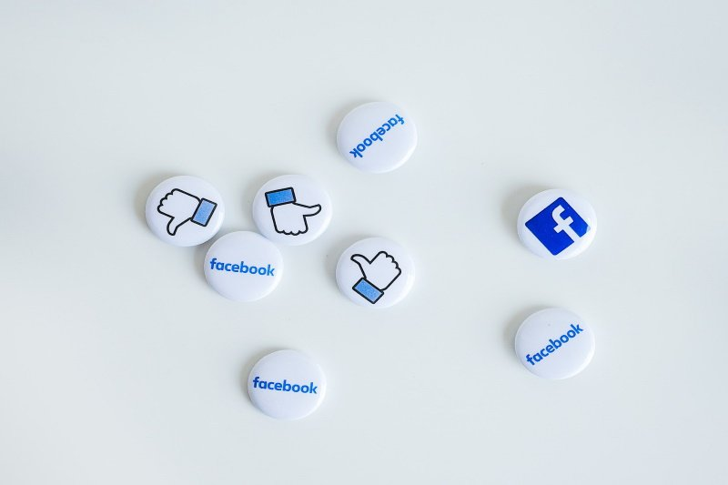 image of Facebook icon buttons